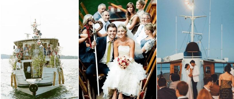 nunta 2021 pe Iaht, nava cu motor